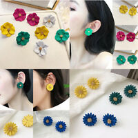 Fashion Women Girls Flower Earrings Chrysanthemum Ear Stud Charms Jewelry Gift
