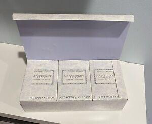 3 X Crabtree Evelyn Nantucket Briar Scented Soap Bars 3.5 oz 100g Box Set Lot