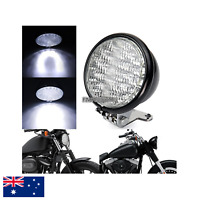 "5"" Black billet LED headlight Harley cruiser Chopper Bobber custom cafe racer"