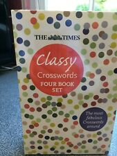"""The Times """"Classy Crosswords"""" 4 x books in case - NEW unopened - nice present"""