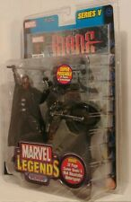 Marvel Legends series V 2004 BLADE w/motorcycle + comic, foreign VARIANT