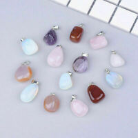 1/5Pcs Crystal Stone Necklace Pendent Charms Colour DIY Jewelery Making Craft