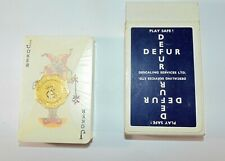 More details for rare vintage defur descaling services playing cards sealed deck with stamp seal
