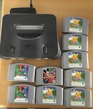 Nintendo 64 System Untested with 8 games lot