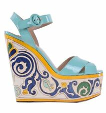 Leather Platforms & Wedges Multi-Colored Shoes for Women
