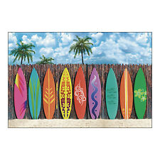 Luau Party Surf's Up SURFER Surfboard Backdrop wall mural photo prop BANNER