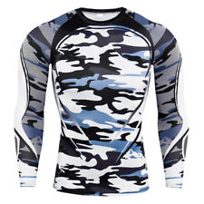 Men Compression Shirt Sport Quick Dry Long Sleeve Camouflage Fitness T-Shirt