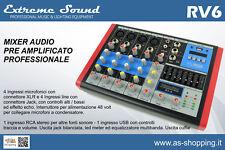 MIXER 6 CH PROFESSIONALE USB MP3 BLUETOOTH CON EFFETTI x DJ KARAOKE PIANOBAR