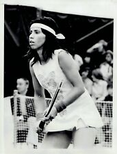 1974 Vintage Photo Rosemary Casals models tennis skirt fashion at Virginia Slims