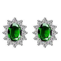 New arrival Multi Gems Silver Earrings Green Topaz Gemstone Silver Earrings