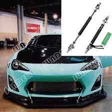 "BLACK ADJUSTABLE 4.5""-8"" FRONT BUMPER LIP SPLITTER ROD STRUT TIE BAR SUPPORT NEW"
