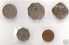INDIA 25 10 5 2 NAYE PAISE, 1 NAYA PAISA COINS 1957 # 33