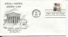 1981 Flag Over The Supreme Court Sheet Stamp Artmaster Cachet Unaddressed Fdc
