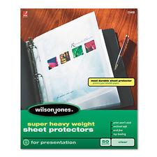 Wilson Jones Super Heavy Weight Sheet Protector Clear Finish Clear 25 Per Box