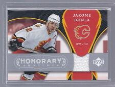 2007-2008 Trilogy Hockey Jerome Iginla Honorary Swatch Jersey Card