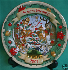 DISNEY PARK CHRISTMAS THROUGH YEARS 2007 BAMBI PLATE DISNEY COLLECTORS PLATE NEW