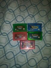 Pokemon Emerald Fire Red ruby Sapphire 5PC reproduction lot GBA Gameboy DS Lite