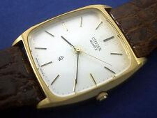 Citizen Genuine Leather Quartz (Battery) Wristwatches