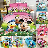 Disney Mickey Minnie US-Twin/Full/Queen Size Quilt/Duvet Cover Set or Sheet Set