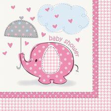 Confezione 16 Tovaglioli  Carta , Baby Shower Nascita Bimba PS 20673