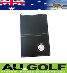 DELUXE GOLF SCORE CARD HOLDER BLACK PU LEATHER