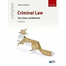 Complete Criminal Law: Text, Cases, and Materials by Janet Loveless (Paperback, 2016)