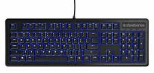 SteelSeries Apex 100 Gaming Keyboard - Tactile & Silent - Blue LED Backlit