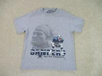VINTAGE Dallas Cowboys Shirt Youth Medium Gray Deion Sanders Football Kids 90s*