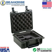 Seahorse SE 430FP2 Protective Two Gun Hard Case with Pre-formed Foam Black