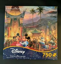 NEW Ceaco Thomas Kinkade Mickey Minnie  Hollywood 750 Pc Disney jigsaw Puzzle