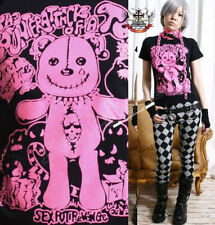 JAPAN KERA Punk NEON PINK TEAR CUB TEDDY BEAR TEE XS/S