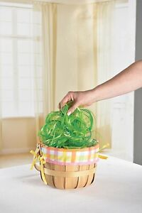 2- Green Grass Basket Filler Easter Swirl Party Holiday Supply Fast Shipping