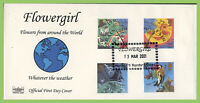 G.B. 2001 Weather set Havering First Day Cover, Flowergirl, Harold Hill