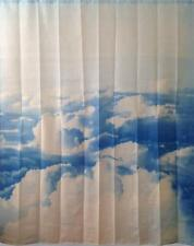 Blue & white nubi scena BAGNO DOCCIA TENDA POLIESTERE GANCI 180 x 180 cm