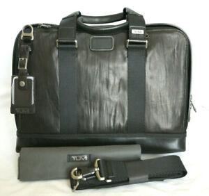 Tumi Alpha Bravo Andrews Brown/Black Leather Slim Brief #092390DL2 - NWOT