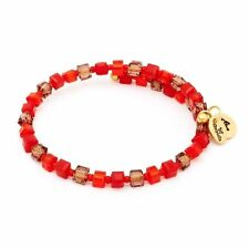 Chrysalis Gold Plated Sunset Red Orange Wrap Bangle Bracelet - CRBW0012GPPROTO