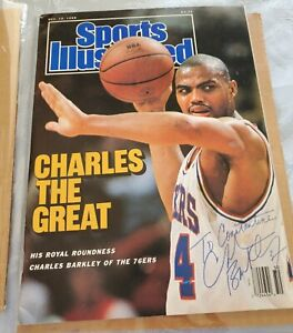 1988 Charles the Great Barkley 76ers Sports Illustrated Mag. Autographed to bro