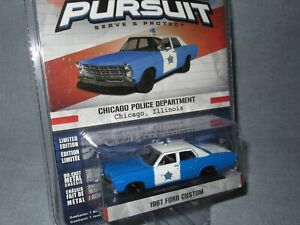 GREENLIGHT 1:64, HOT PURSUIT Series 16, FORD CUSTOM 1967, CHICAGO POLICE DEPT