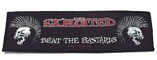 THE EXPLOITED BEAT THE BASTARDS STRIP  WOVEN  PATCH