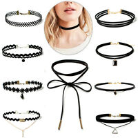 10 Pieces/Set Choker Stretch Velvet Classic Gothic Tattoo Necklace Jewelry Hot