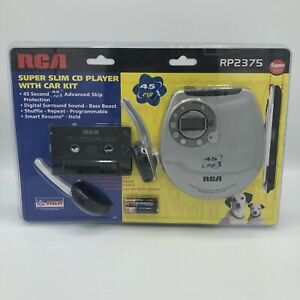 RCA RP2365 Super Slim Design Portable CD Player with Car Kit New Sealed