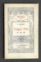 Biografie - Profili N° 71 - Edgar Poe - 1^ ed. Formiggini 1924