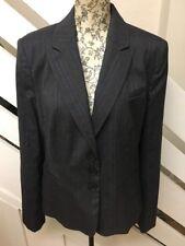 Women's Next Grey Check Blazer Formal Smart Office Jacket Suit Jacket Size 14 UK