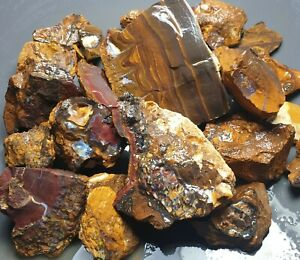 Boulder Opal Rough Parcel Yowah Matrix Solid Natural Lapidary Specimen 650 Grams