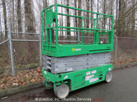 2012 Genie GS2632 26' Electric Scissor Lift Aerial Manlift Platform 24V Inverter