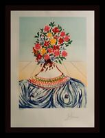 DALI Retrospective Flowering Inspiration H/S Numbered Lithograph Surrealism ART