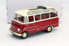 Mercedes-Benz O319 BUS YEAR 1960 Red/Beige 1:18 Norev