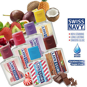 Swiss Navy Fruit Flavored Lubricant Oral Lick Edible Lube Enhance Blow Jobs USA