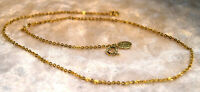 Vintage PARK LANE Gold Tone Chain Necklace with Park Lane Tag Spring Clasp 16""