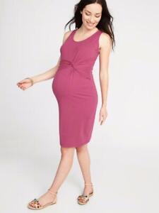 OLD NAVY Maternity by Gap ~ NWT! XXL ~ Boysenberry Sleeveless TWIST Tank Dress